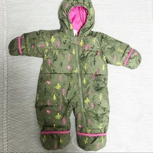 Columbia Infant Bunting Snowsuit 12 months Forest